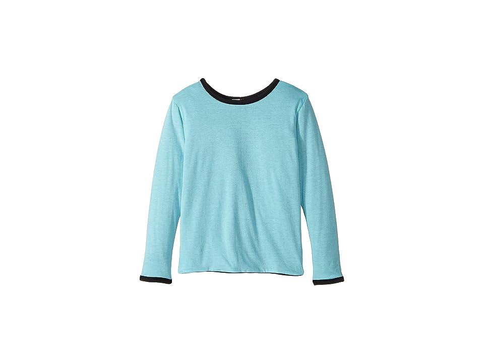 Image of 4Ward Clothing Four-Way Reversible Long Sleeve Jersey Top (Little Kids/Big Kids) (Black/Sky) Boy's Clothing