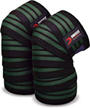 DMoose fitness compressie kniewikkels voor gewichtheffen, powerlifting, fitnesstraining en CrossFit, lange 78 inch lengte,...
