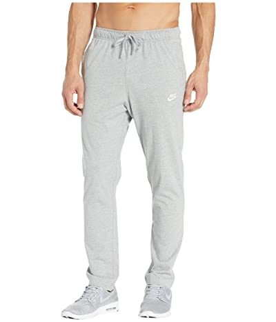 Nike NSW Club Pants Open Hem Jersey (Dark Grey Heather/White) Men