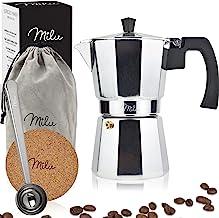 Milu Espresso Maker (utan induktion) | 2, 3, 6, 9 koppar | Mockakruka i aluminium, espressokruka, espressobryggarsats inkl...
