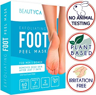 Exfoliating Foot Peel Mask - Baby Foot Peel 2 Pairs - Natural Foot Exfoliator - Exfoliating Callus Remover - Foot Peel Mask Exfoliant for Soft Feet in 1-2 Weeks