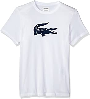 d16bbe08f Lacoste Men s Short Sleeve Jersey Tech with Gator Graphic Logo T-Shirt