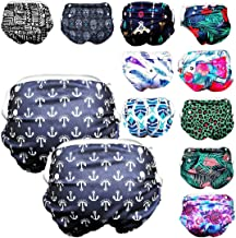 Reusable Swim Diaper for Baby Boys (2 Pack) One Size Adjustable from: Newborn - 3 Years Toddler (36lbs Max)