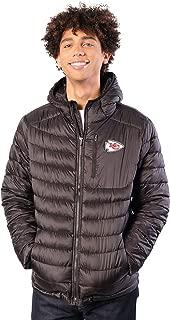 Ultra Game NFL Men's Full-Zip Hooded Puffer Jacket