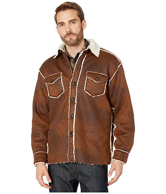 True Grit Vintage Bonded Faux Leather Two-Pocket Button Jacket
