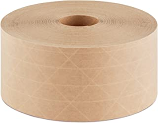 Crowell Reinforced Gummed Kraft Paper Tape, Intertape Super Seal Natural 70mm (2.75 inches) x 450 Feet Roll – Commercial use for Box Packaging and Sealing Commercial Quality #233