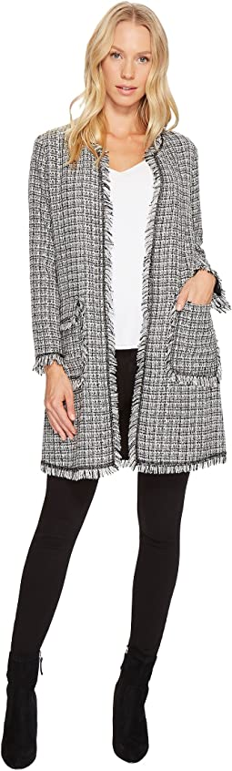 CeCe - Heather Tweed Frayed Edge Soft Jacket