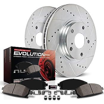 Power Stop K6129 Front Brake Kit with Drilled/Slotted Brake Rotors and Z23 Evolution Ceramic Brake Pads
