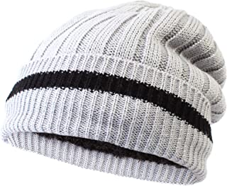 4d622456aa179 LANGZHEN Boys Winter hat - Daily Slouchy Cuffed Knit hat with Thick Fleece  Lined Boys Beanie