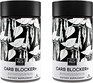 Carb Blocker+ | 180 Count (2 Pack) - Innovative Formula Composed of White Kidney Bean Extract, White Mulberry and Chromium...