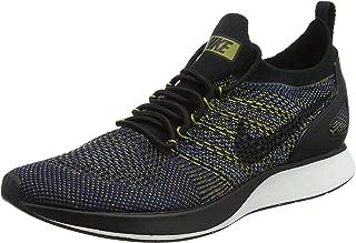 Nike Women's Air Zoom Mariah Flyknit Racer Trainers, Black-Summit White-Desert Moss-Green, 3.5 UK 36.5 EU