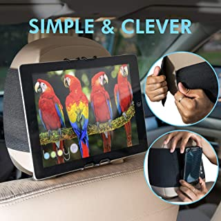 Car iPad |Tablet Car Headrest Mount | Holder |Cradle. FITS Most Smartphone and 6-11 INCH Tablets