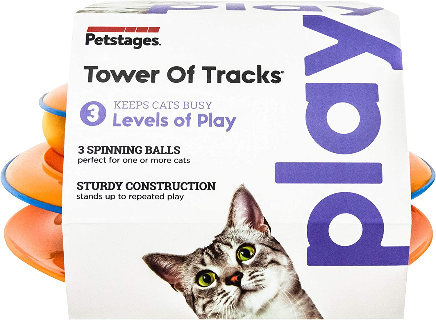 Tower of Tracks Fun Levels of Interactive Play Circle Track with Moving Balls,