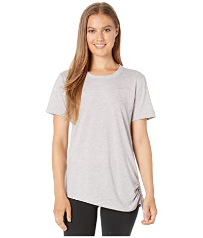 Nike Miler Top Short Sleeve Cinched (Atmosphere Grey/Heather/Reflective Silver) Women