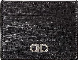 799d8978cb7df Salvatore Ferragamo. Gancio City Card Case 22D664.  240.00. Luxury. Black