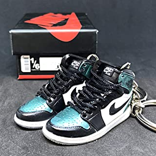 Pair Air Jordan I 1 High Retro All Star Chameleon OG Sneakers Shoes 3D Keychain 1:6 Figure + Shoe Box