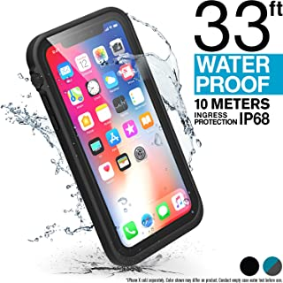 Catalyst iPhone X Waterproof Case, Shock Proof Premium Material Quality, Slim Design for Swimming, Beach Trips, Kayaking, Cruise Accessories with Lanyard (Black)