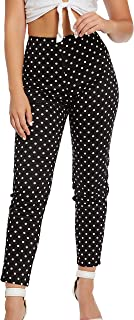 white polka dot pants