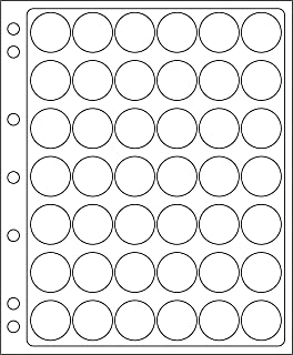 tapas coronas para 42 placas de cava hojas de pl/ástico COMPART