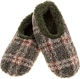 Snoozies Super Soft Sherpa Men's House Slippers – Boucle Plaid