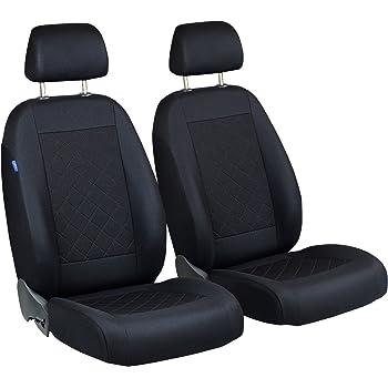 Lupex Shop Ford Fiesta zweifarbige Sitzbez/üge schwarz dunkelgrau