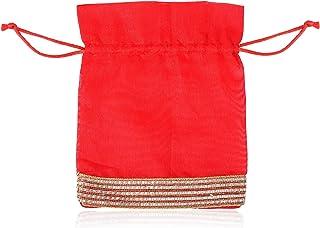 LINE 'N' CURVES Designer Indian Potli with Draw String Closure, Diwali Gift Handbag, Ladies Purse, Designer Bridal Clutch,...