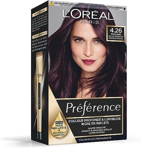 L'Oréal Paris Préférence Coloration Permanente Cheveux, Nuance : Toscane (4.26), Violine Intense