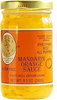 Lola Cion's Mandarin Orange Sauce (8.5 oz.) All Natural, Gluten-Free Multipurpose Glaze, Dressing, Topping, or Dip   Sweet, Low-Sugar Flavor   Cooking and Baking