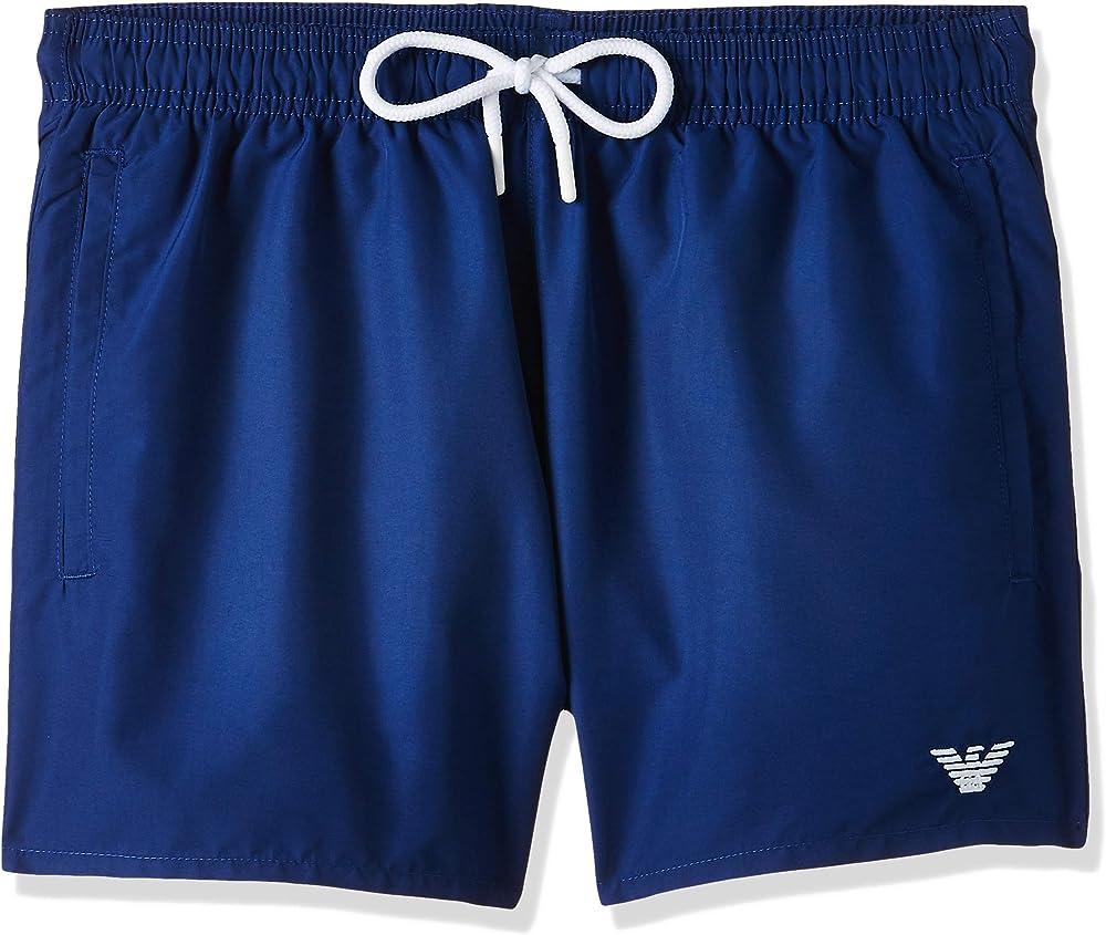 Emporio armani swimwear shorts, costume da bagno uomo,poliestere 100%, blu 0P438211752C
