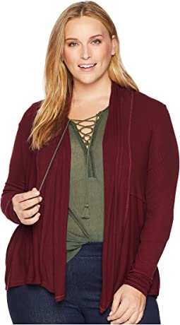 2X1 Rib Long Sleeve Cardigan