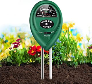 Soil Tester,Home-Mart 3 in 1 Soil PH Meter Soil Moisture Sensor Soil Test Kit for Moisture, Light & pH Meter forGarden, La...