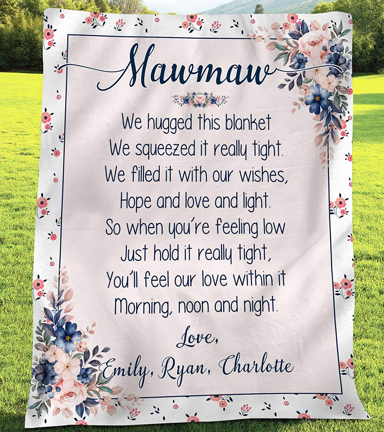 Personalized Blanket- Mawmaw Blanket Ranking Jacksonville Mall TOP17 This Gran We Hug