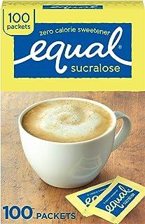 EQUAL 0 Calorie Sweetener, Yellow, Sugar Substitute, Zero Calorie Sugar Alternative Sweetener Packets, Sugar Alternative, ...