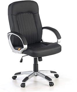 ofiprix | Sillón Lisboa | Sillón de Oficina | Silla de Escritorio| Sillón despacho | Polipiel | Brazos tapizados | Color Negro