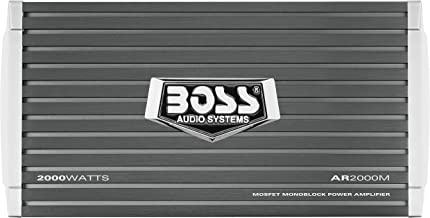 BOSS Audio Systems AR2000M Monoblock Car Amplifier - 2000 Watts, 2-4 Ohm Stable, Class A-B, Mosfet Power Supply