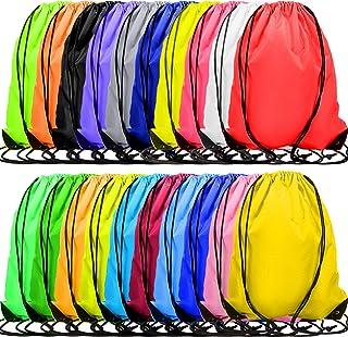 60 Pieces Drawstring Backpacks Bulk Cinch Bags Multi-Color Sports Gym Drawstring Bags for Traveling Gym Yoga Storage Suppl...