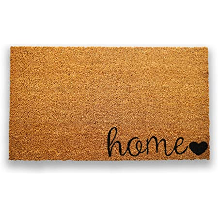 Amazon Com Plus Haven Coco Coir Door Mat With Heavy Duty Backing Home Doormat 17 X30 Size Easy To Clean Entry Mat Beautiful Color And Sizing For Outdoor And Indoor Uses Home Decor