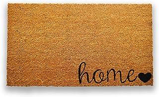 Doormat خالص Coco Coir با پشتوانه PVC سنگین - صفحه اصلی - اندازه: 17 اینچ x 30 اینچ - ارتفاع شمع: 0.6 اینچ - رنگ / سایز مناسب برای مصارف بیرونی / داخلی.
