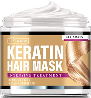 Keratin Hair Mask Natural Intensive Treatment - Made in USA - Effective Mask with Coconut Oil, Retinol & Aloe Vera - Moist...