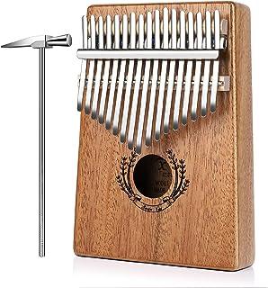 Flexzion Kalimba 17 Keys Thumb Piano, Mbira 17 Tone Finger P