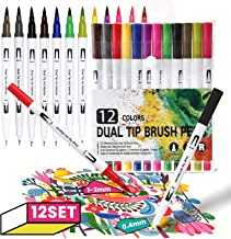 Kadell Art Marqueur Marqueur Stylo Double Brosse De Peinture 12/24 Couleurs Surligneur À Base D'eau Calligraphie Stylo Pei...