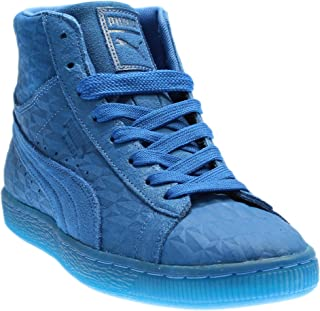 Mens Suede Mid Me Iced Casual Sneakers,
