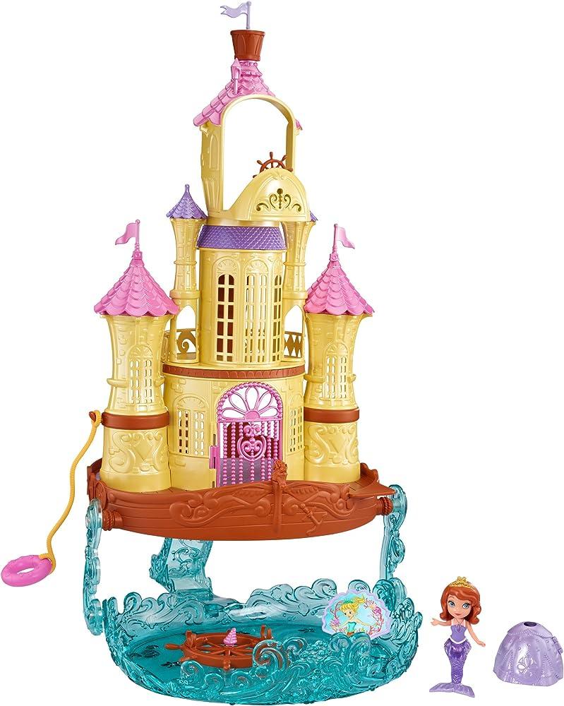 Disney mattel,set da gioco delle principesse castello 2 in 1