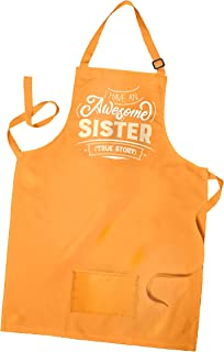 Merlin | Sister Gifts | Unique Apron Gift for Sister | Ideal As a Birthday for Your Sister | Lovely Sister Gifts from Sister | Best Sister Gifts for Cooking, Painting or Any Activity