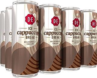 Douwe Egberts IJskoffie Ice Cappuccino, Koffie met Melk en een Vleugje Cacao (12 Blikjes, 100% Arabica Koffie, Ice Coffe...
