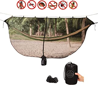 Evangelista Outfitters Hammock Mosquito Net – 11'2 x 4'6 Bug & Mosquitos Net fits All Camping Hammocks. Dense Mesh Provides Security. Compact, Lightweight, Easy Setup