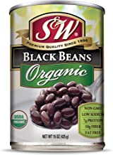 S&W - Organic Black Beans - Canned Beans - 15 Ounce Can (Pack Of 12)