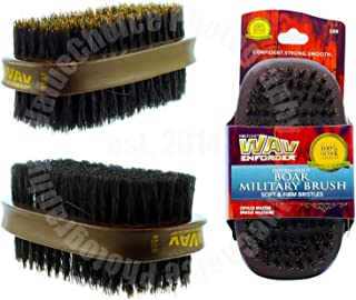 Wav Enforcer Wave Double Sided Military Palm Soft & Firm Premium Hair Brush 588