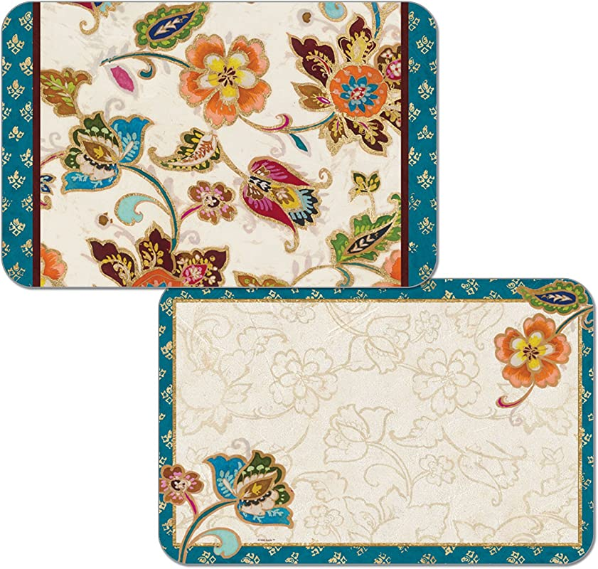 Counterart Set Of 4 Reversible Wipe Clean Decofoam Placemats Boho Chic