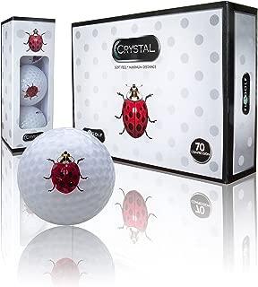 Crystal Golf Brand Golf Balls (Ladybug Logo)